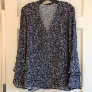 Kobi Halperin Long Sleeve Silk Blouse Size L